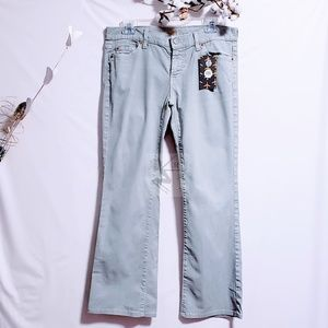 7 For All Mankind Jeans - NWOT SFMK Light Wash olive/gray jeans size 30💋